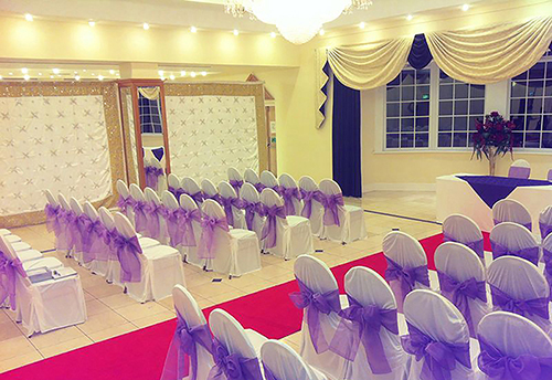 Purple Sash Chair Covers
