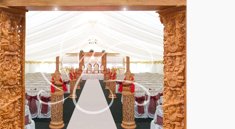 Sytel ganesh mandap elegant wooden carved or pillar
