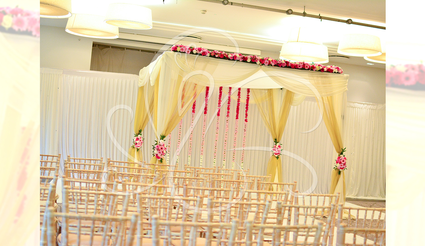 Draped Yellow Floral Mandap