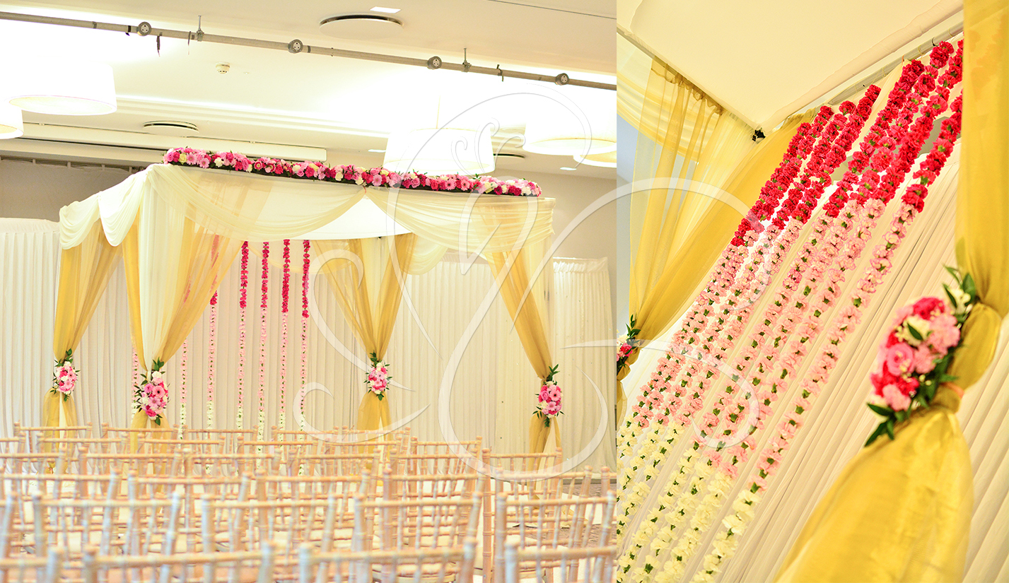 Draped Mandap Gold