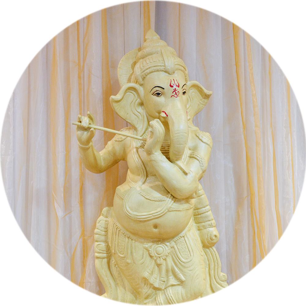 Large Ganesh Statue Foyer