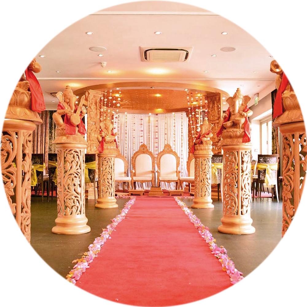 Hogarths Hotel Asian Wedding Decor