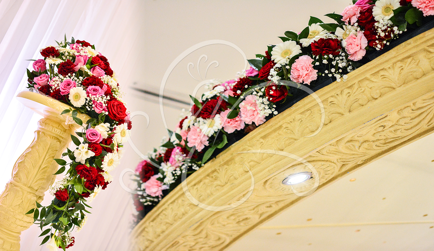 Fresh Flowers Mandap Ceiling