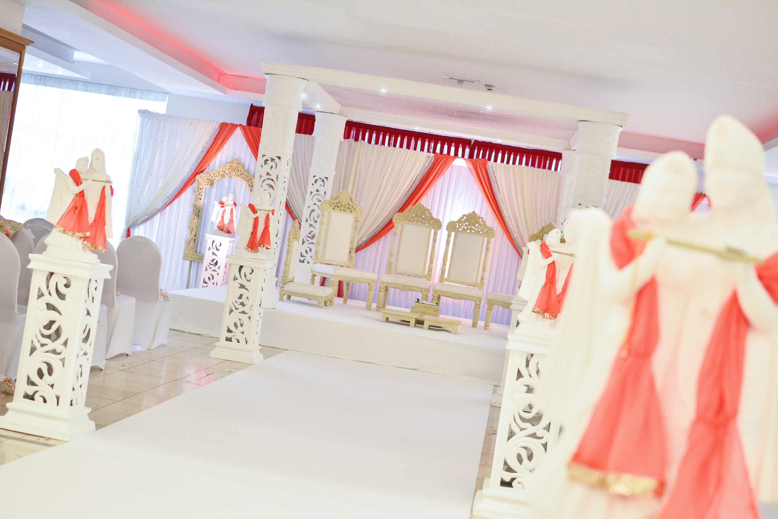 Unique White Mandap