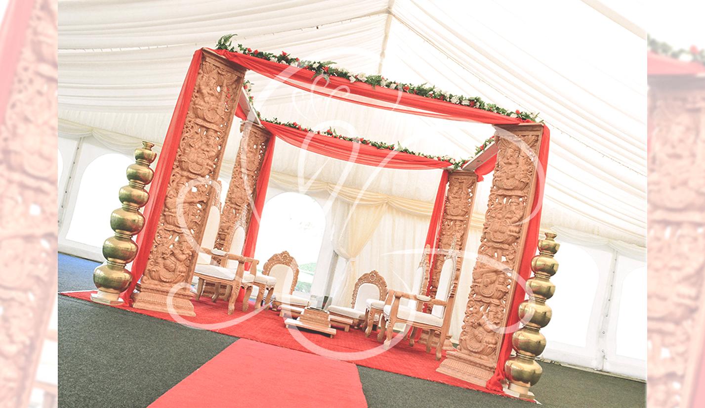Wethele Manor Mandap Set Up