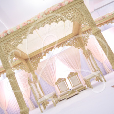 Square Carved Mandap