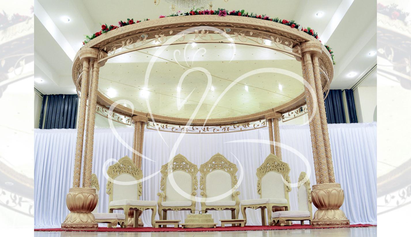 Ramada Park Hall indian wedding set up